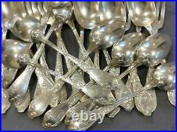 Art Nouveau Chardons Menagere De Table D'apres Boulenger Metal Argente