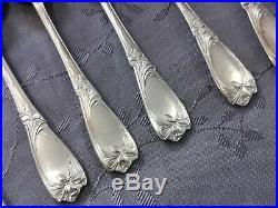 Art Nouveau Maxim's Iris 11 Petites Cuilleres En Metal Argente