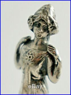 Art Nouveau Petschaft, Cachet de Cire à Cacheter, Métal Plaqué Argent, Monogramm