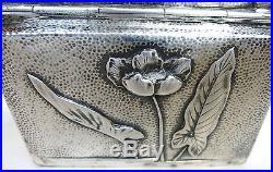 Art Nouveau Tabatière Argent Amadou Prise B-2258