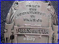 Art Nouveau Union Des Societes De Tir De France G. Dupre En Argent Massif