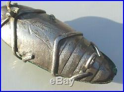 BELLE BROCHE SCARABEE SUR ARGENT ANCIENNE 1900 D'EPOQUE ART NOUVEAU / Lg 4,1cm