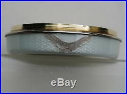 BOITE ARGENT MASSIF VERMEIL EMAILLEE ROSES ART NOUVEAU Sterling Silver Enamelled
