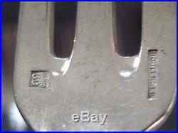 BOULENGER CHARDONS ART NOUVEAU 8 COUVERTS DESSERT ENTREMET METAL ARGENTE 18.5cm