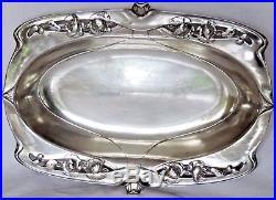 Beau Plat Corbeille Art Nouveau En Metal Argente Christofle Gallia Decor Floral