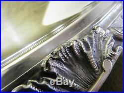 Beau plateau à thé métal argenté rocaille Vuillermet Lyon silverplate Tea tray