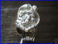 Belle Et Imposante Bague Vintage Esprit Art Nouveau/argent Massif/t. 59/27 Gr