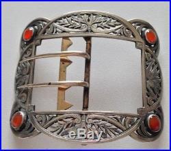 Belle boucle ceinture monture argent massif sanglier Art nouveau cabochons 3a4799fb4e2