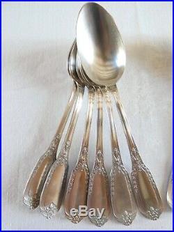 Belle série 18 COUVERTS FROMAGE DESSERT métal argenté poinçon R&C Art Nouveau