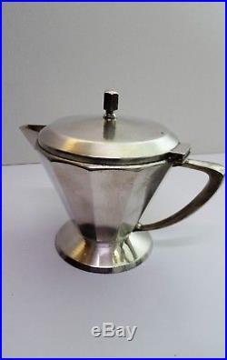 Berndorf Modernist Art Krupp Service à thé et café argenté Art Déco