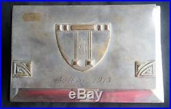 Boite A Cigarettes-wmf-epoque 1900-art Nouveau-metal Argente-jugendstil