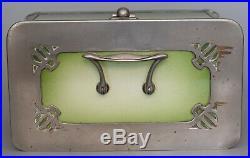 Boîte à biscuits Jugendstil Faïence et métal argenté Allemagne, ca. 1920