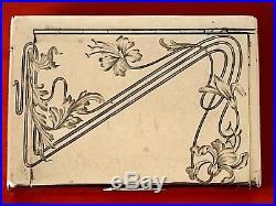 Boite à cigarettes / tabatière russe en argent massif & vermeil, début 1900 (XX)