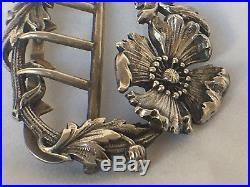 Boucle Ceinture Art Nouveau Argent 26 Grammes Poincon Tete Sanglier 1900 C1098