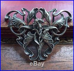 Boucle Ceinture Art-nouveau Feuille Fleurs Illet Vintage Dress Silver Argent