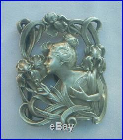 Boucle De Ceinture Argent Massif Art Nouveau Signee E. Dropsy