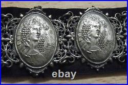 Boucle & ceinture Sarah Bernhardt Mucha Flora Botticelli art nouveau daté 1901