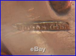 Boulenger 12 fourchettes à huitre art nouveau métal argenté coquille et fleurs