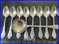 Boulenger Cacao Menagere Art Nouveau Metal Argente 25 Pieces Metal Argente