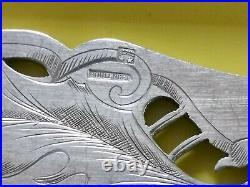 Boulenger Chardons Art Nouveau Couvert De Service Poisson Metal Argente