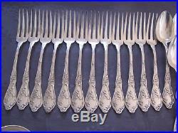 Boulenger Chardons Art Nouveau Menagere En Excellent Etat Metal Argente