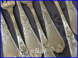 Boulenger Menagere Art Nouveau En Metal Argente 25 Pieces