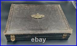 Boulenger Menagere De 26 Pieces Metal Argente Modele Chardons Art Nouveau