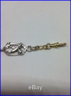 Bracelet Art Nouveau Maillons Or 18ct et Argent