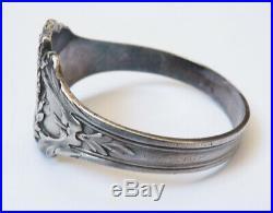 Bracelet rigide en argent massif ART NOUVEAU vers 1900 silver bijou ancien
