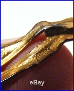 Bracelet vermeil argent massif signé MIAULT vers 1910 ART NOUVEAU silver