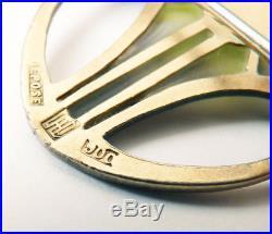 Broche plique à jour argent massif CARL HERMANN silver brooch ART NOUVEAU