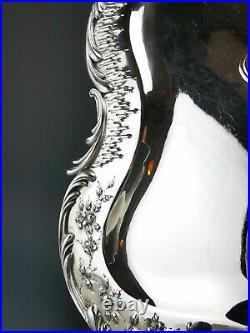 CARDEILHAC Plateau en Argent massif Minerve. 950 Style Art Nouveau