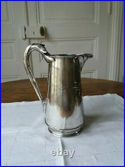 CHRISTOFLE /GALLIA Art Nouveau pichet cruche en métal argenté