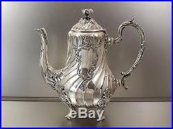 Christofle Gallia Service A Cafe Louis XV 3 Pieces En Metal Argente Vers 1900