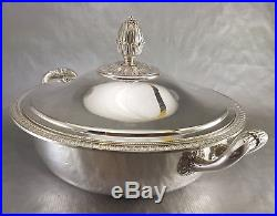 CHRISTOFLE MALMAISON coll GALLIA SOUPIERE LEGUMIER métal argenté vegetable dish