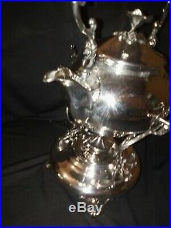 CHRISTOFLE superbe fontaine à thé théière samovar en métal argenté art-nouveau
