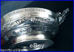Coupe De Mariage Barbedienne Art Nouveau Bronze Argente
