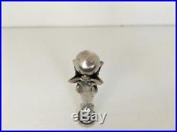 Cachet En Metal Argente Art Nouveau 1900 4 Femmes Et Globe Monogramme Rp C1067