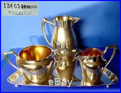 Café Chocolats- Service Art Nouveau F. Miller Sohn W. Binder 800 Argent A456