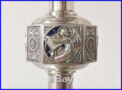 Calice Art Nouveau Argent Massif Poinçons Vermeil Décor Émaux Cloisonnés 512 Grs