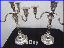 Candélabres bronze argenté flambeau régence époque 19ème