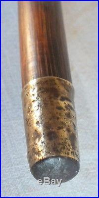 Canne art nouveau pommeau argent 800 signé Geschützt