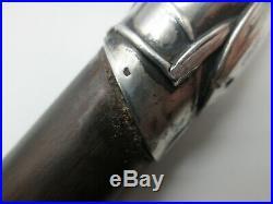 Canne pommeau argent massif au scarabée stick cane silver scarab beatle
