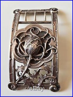Cardeilhac, rare boucle de ceinture argent massif Art Nouveau Lucien Bonvallet