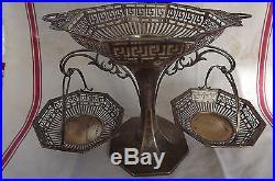 Centre de table art nouveau argent massif edwardian sweetmeat centerpiece henry