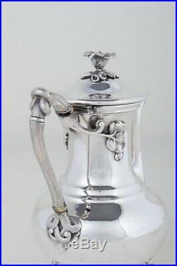 Charles Cristofle 19ème Grande Verseuse À Café Art Nouveau Métal Argenté