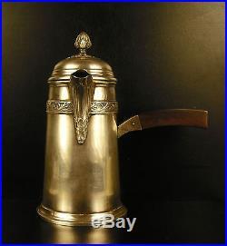 Chocolatière Charles Barrier en argent Minerve c1910 silver Chocolate pot 18 cm