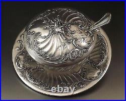 Christofle Gallia Confiturier Style Louis XV Metal Argente Et Cristal Vers 1900