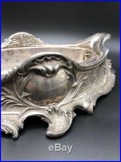 Christofle. Gallia JARDINIERE-CENTRE DE TABLE-METAL ARGENTE ART NOUVEAU