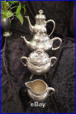 Christofle Gallia / Superbe Service The Et Cafe Metal Argente Art Nouveau Trefle